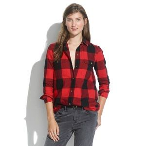 Madewell • Flannel Tomboy Workshirt in Check